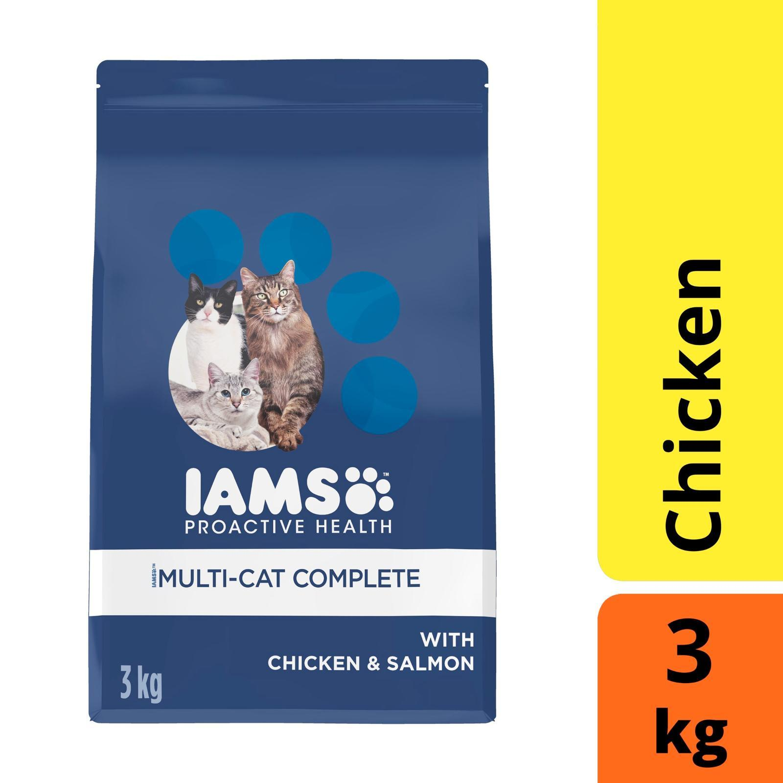 Iams Cat Adult Multi-Cat Complete Chicken And Salmon Cat Food