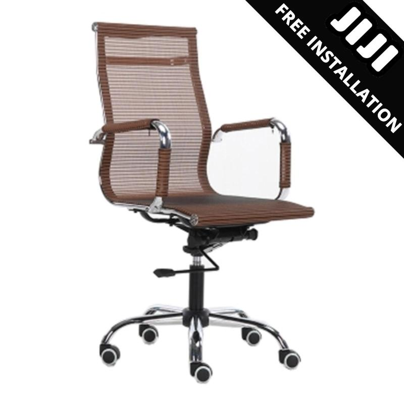 JIJI Manager Office Chair - MESH (Free Installation) - Office chairs /Study chair/Gaming chair/Ergonomic/ Free 12 Months Warranty (SG) Singapore