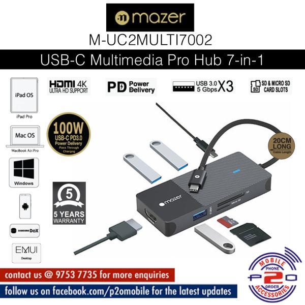 Mazer USB-C Multimedia Pro Hub 7-in-1 Black Edition [ M-UC2MULTI7002 ]