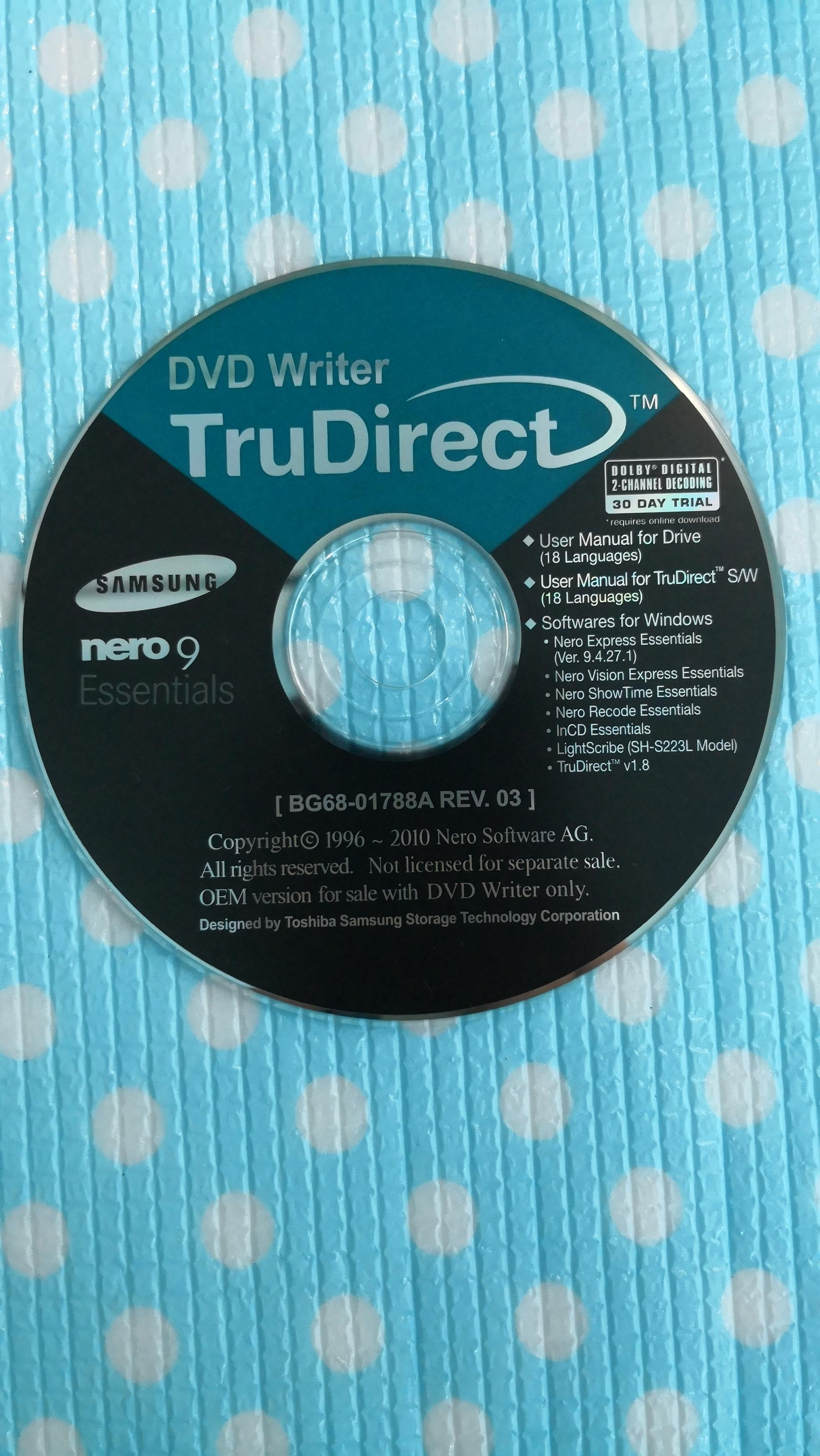 Nero CD/ DVD burning sofware