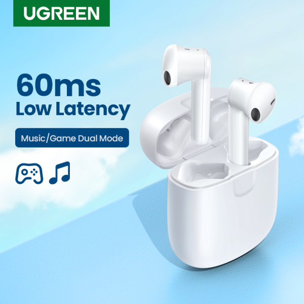 UGREEN HiTune T2 Game BT 5.0 Wireless Earbuds with 4 Mics Mono or Twin Mode Support Wireless Charging Headsets Waterproof TWS Bluetooth 5.0 Earphones 20Hrs Play Time Singapore