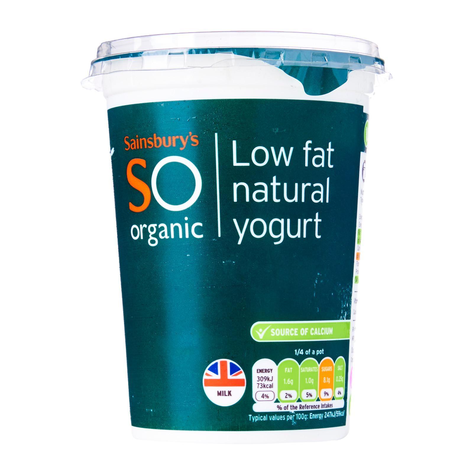 Sainsbury's So Organic Low Fat Natural Yogurt