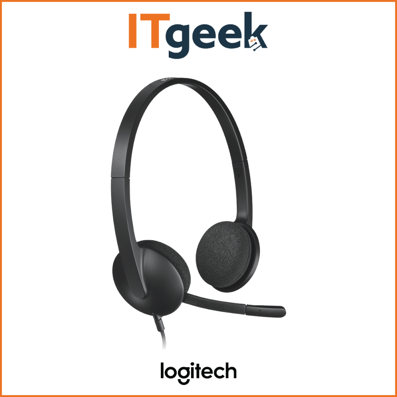 (4HRS DELIVERY) Logitech H340 USB Computer Headset with Noise Cancellation Singapore