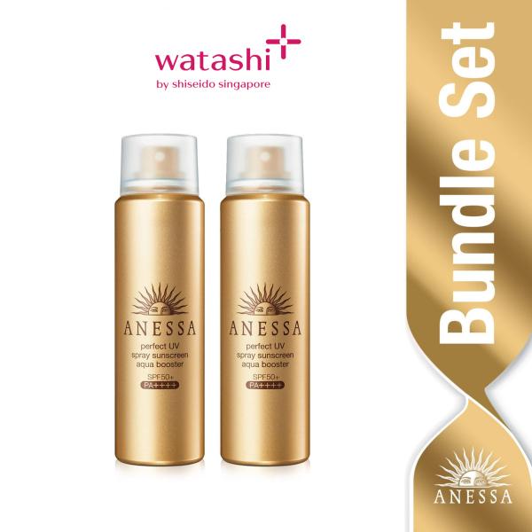 Buy Anessa Perfect UV Spray Sunscreen Aqua Booster 60g x 2 Singapore