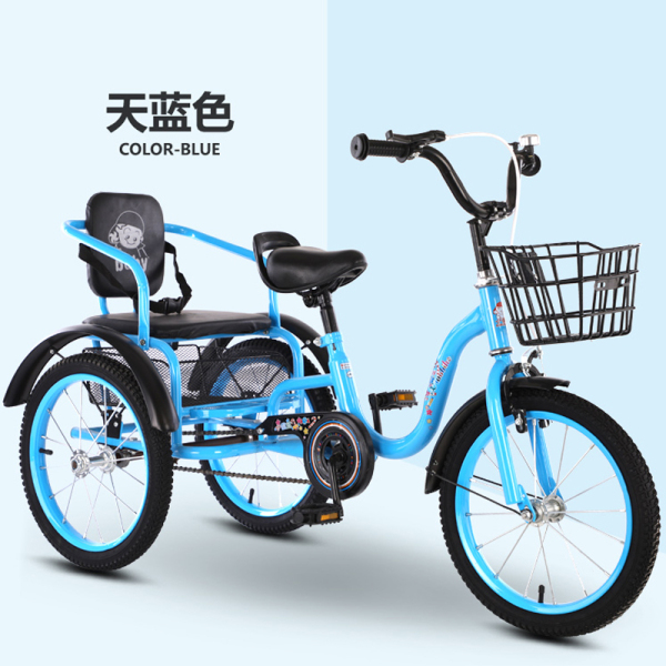 Children Tricycle dai dou Folding Double Bike 2-10 Years Pneumatic Tire Stroller Children Bicycle Bike Singapore