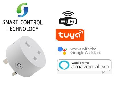 【Singapore Seller】SCT Smart【UK Plug】WiFi Remote Control with Alexa Timing on/off Power Smart Google Home Electric Mini Socket