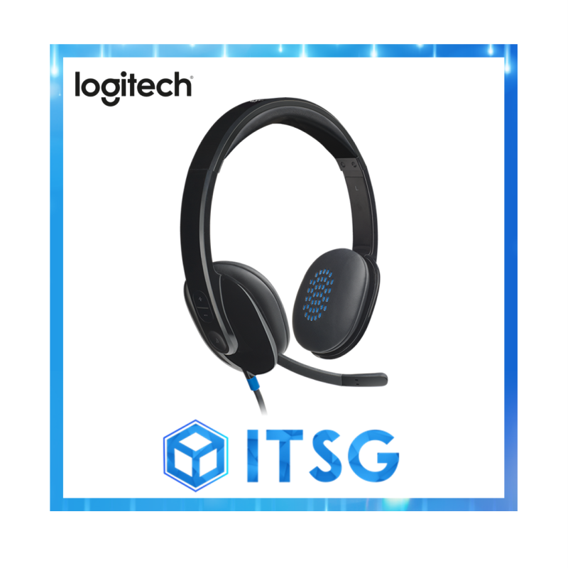 Logitech H540 High Performance USB Headset with Premium Ear Pad and Inline Audio Control (Local 2 Yr Warranty) Singapore
