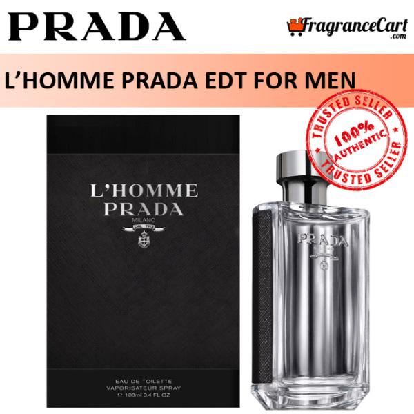 Buy Prada LHomme Prada EDT for Men (100ml) Eau de Toilette LHomme Milano [Brand New 100% Authentic Perfume/Fragrance] Singapore