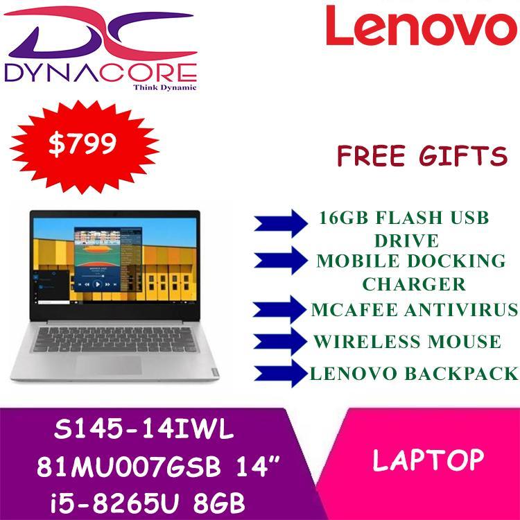 Lenovo Ultraslim Ideapad S145-14IWL 14  i5-8265U 8GB Platinum Grey (81MU007GSB)