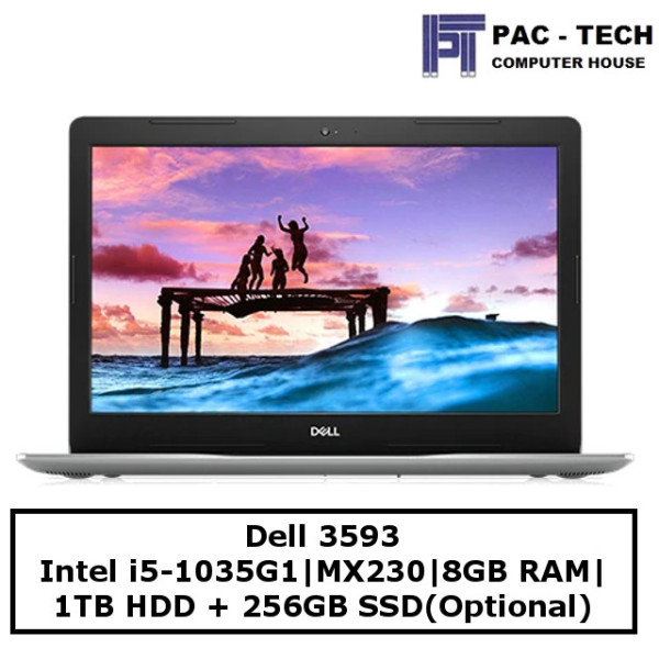 Dell Inspiron 3000 | i5-1035G1 | 8GB RAM | 1TB HDD + 256GB SSD(optional) | 15.6 Full HD | MX230 | Windows 10 | 1 year Warranty