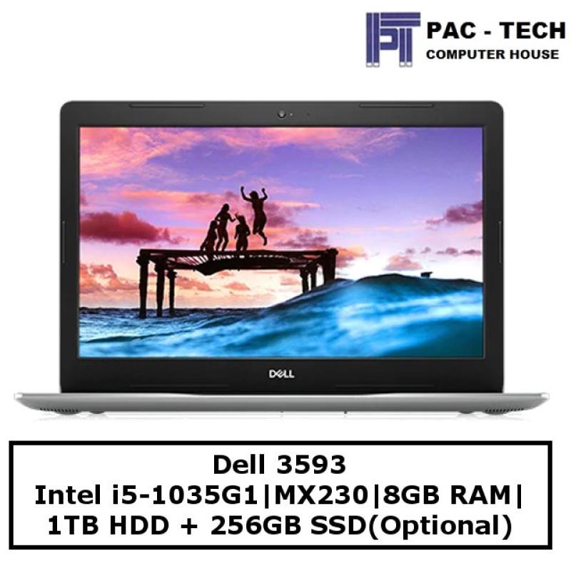 Dell Inspiron 3000   i5-1035G1   8GB RAM   1TB HDD + 256GB SSD(optional)   15.6 Full HD   MX230   Windows 10   1 year Warranty