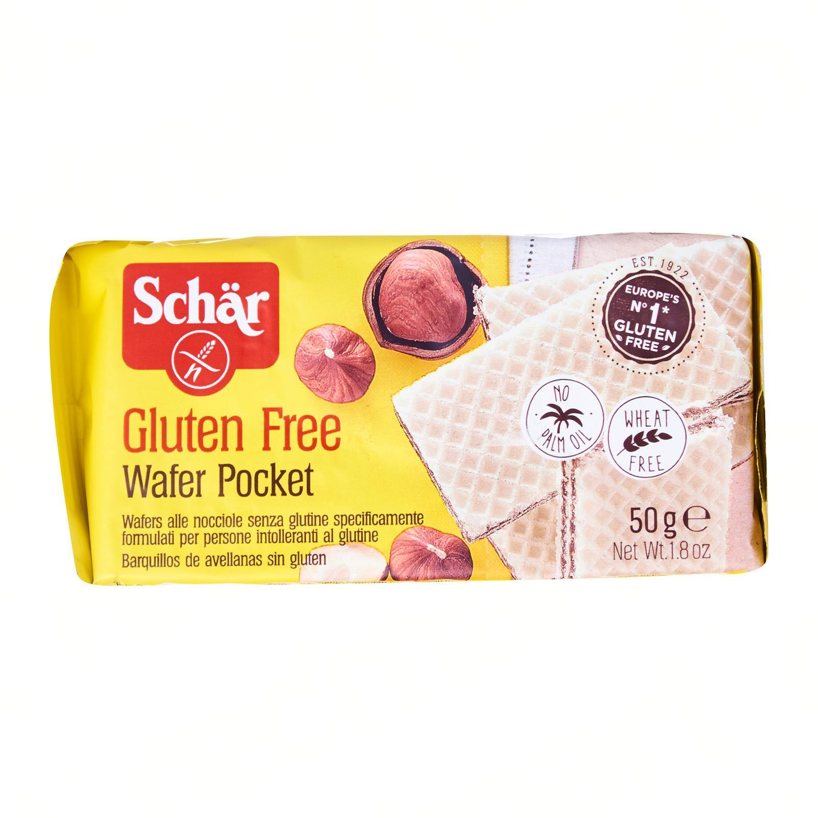 Dr Schar Wafer Pocket with Hazelnut Cream Filling - Gluten Free by Agora Products