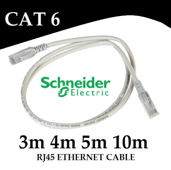 Schneider CAT6 RJ45 Ethernet LAN Network Patchcord 3m 4m 5m 10m Patch cord Cable for Router Laptop Desktop GSE