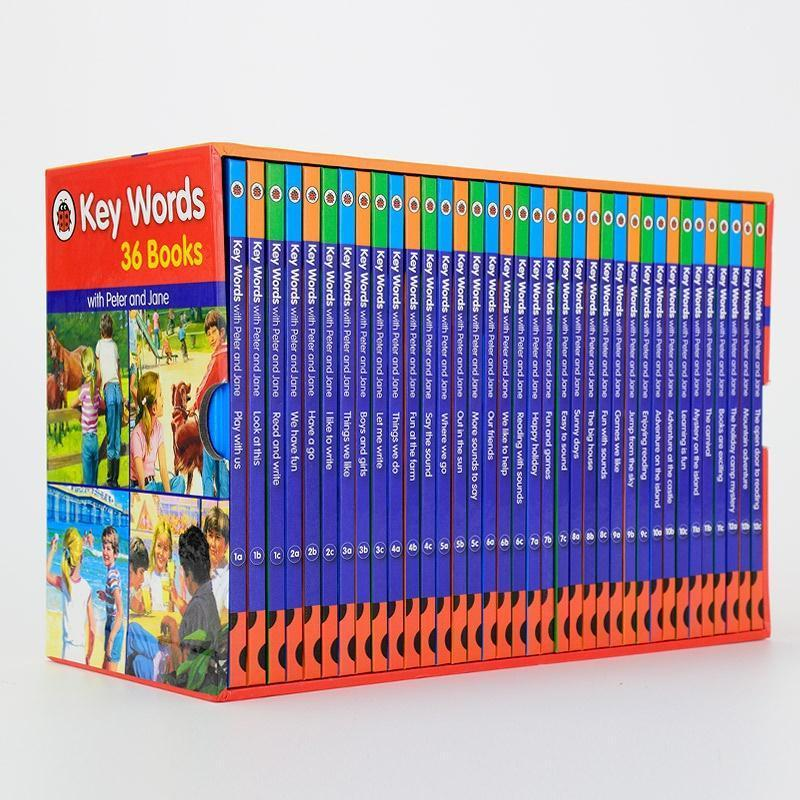Ladybird Keywords with Peter and Jane Collection Book Set (36 Books) (Ladybird Key Words)