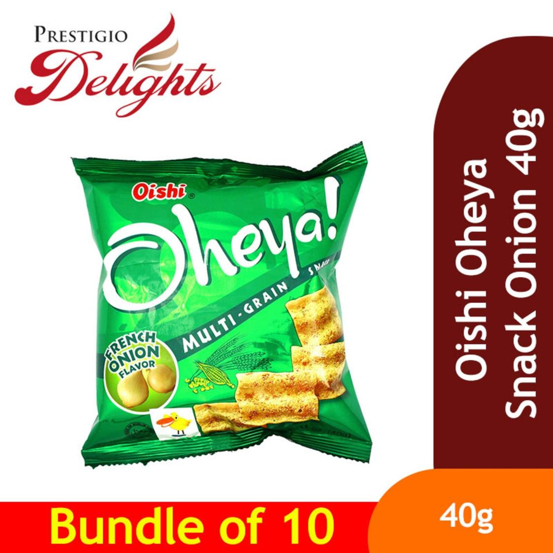Oishi Oheya Snack Onion 40g Bundle Of 10 By Prestigio Delights.