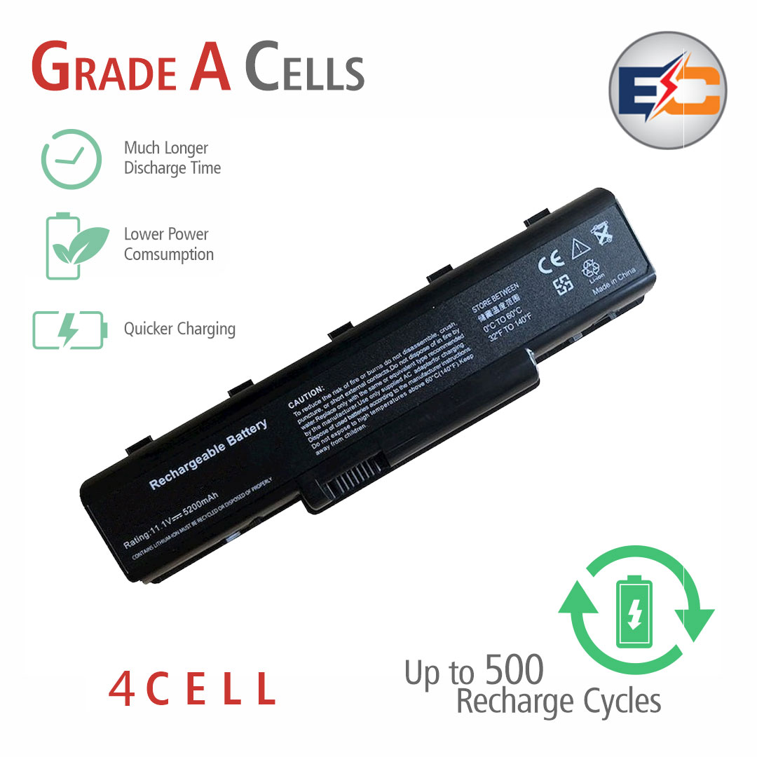 Replacement Laptop Grade A Cells Battery D525 Compatible with Acer eMachines D520, eMachines D525, eMachines E527, eMachines D720, eMachines D725, eMachines G620