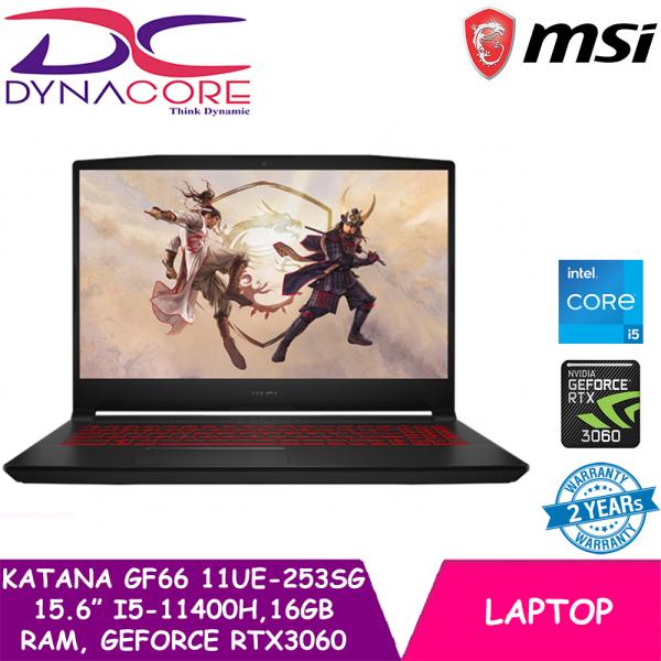DYNACORE - NEW 11th Gen MSI GF66 11UE-253SG Gaming Laptop (i5-11400H | RTX 3060 | 15.6 Inch FHD 144hz | Win 10 | 2 Years warranty)
