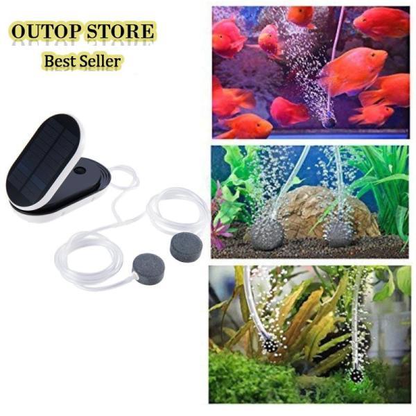 OUTOP 5V 1W Solar-powered Oxygen Pump Oxygenator Aerator for Outdoor Fishing Aquarium Supplies