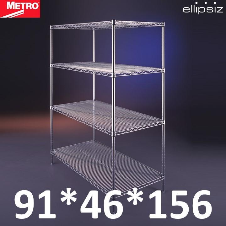 Metro Super Erecta Wire Shelving Heavy Duty Kitchen Storeroom Bomb Shelter Metal Chrome Storage Rack