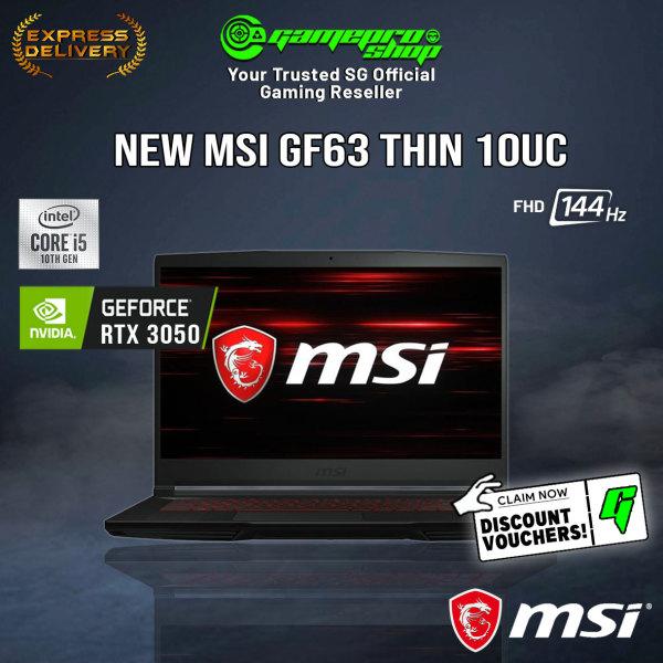 [Express Deliery] NEW MSI GF63 Thin 10UC-475SG Gaming Laptop (I5-10500H/RTX 3050/15.6 FHD 144hz/W10/2Y)