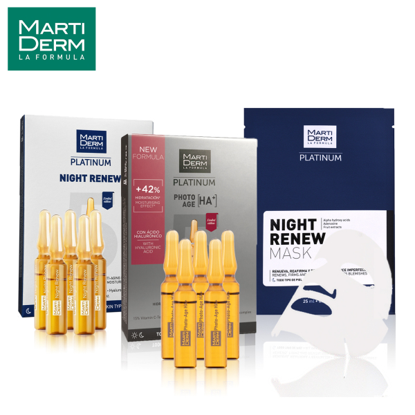 Buy MartiDerm Lazada Exclusive Photo Lift Booster Kit (NEW PhotoAge HA+ 5 x 2ml + Night Renew 5 x 2ml FREE Night Renew Mask) Singapore
