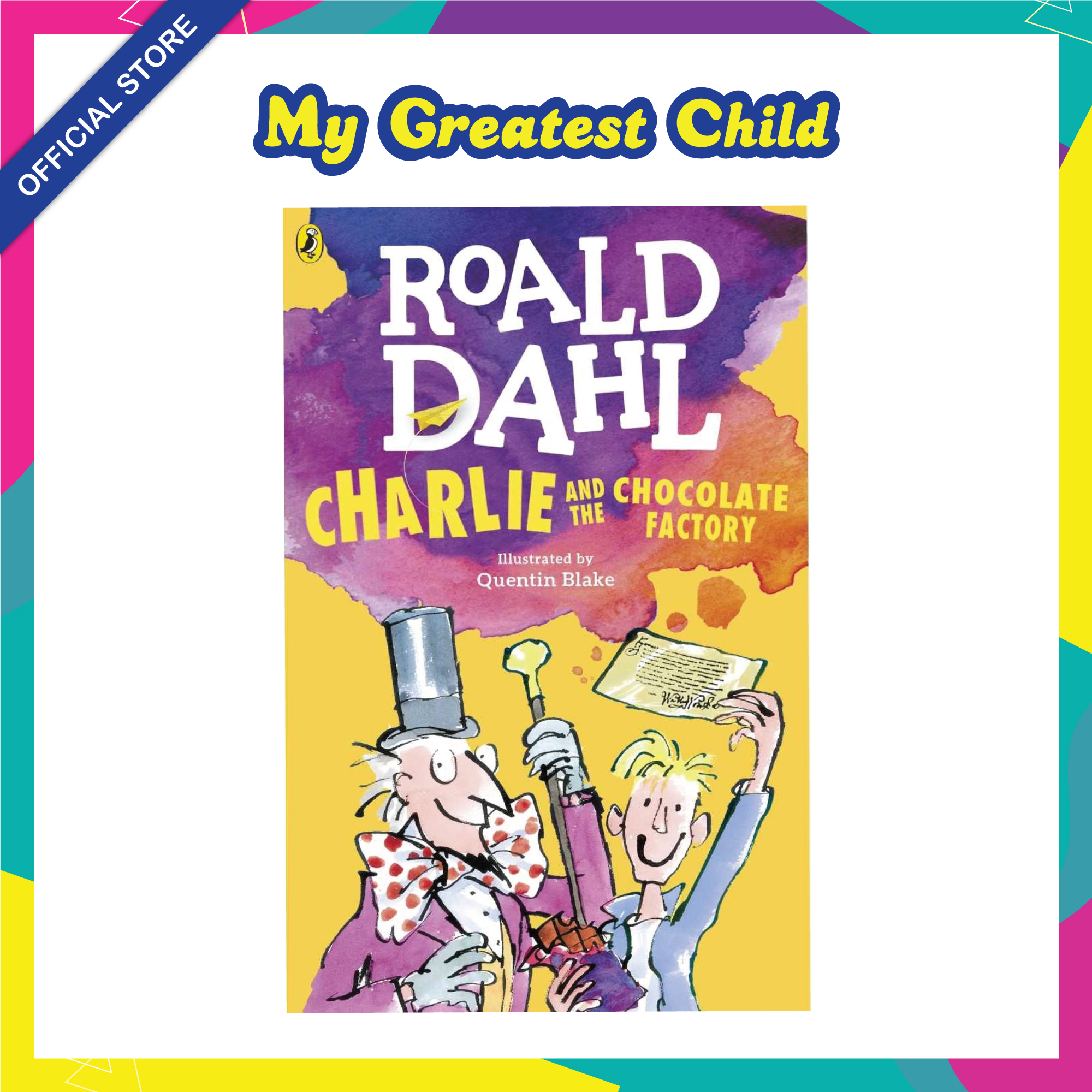 Charlie and the Chocolate Factory - Roald Dahl English Paperback Childrens Book  (For Ages 7+)