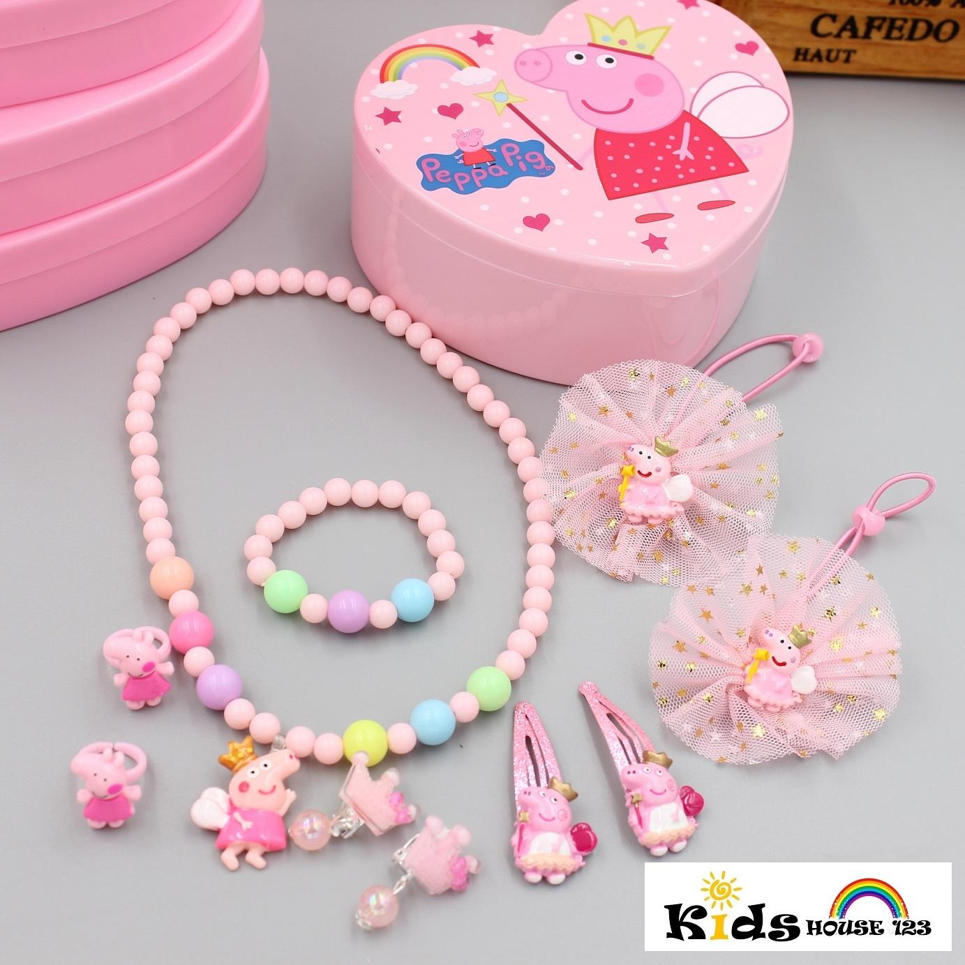d98920950 Peppa Pig w Crown Jewelry Hair Accessories Gift Set for Baby Kids Children  Girl A010
