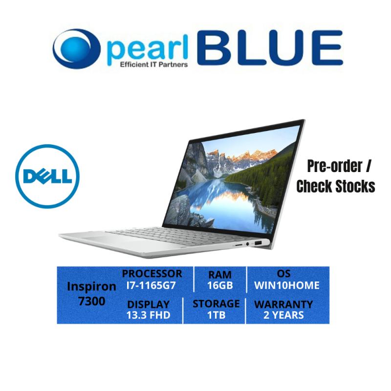 Dell Inspiron 13   7300   I7-1165G7   16GB   1TB   13.3 FHD   0.99KGS   WIFI6   WIN10HOME   2 YEARS WARRANTY