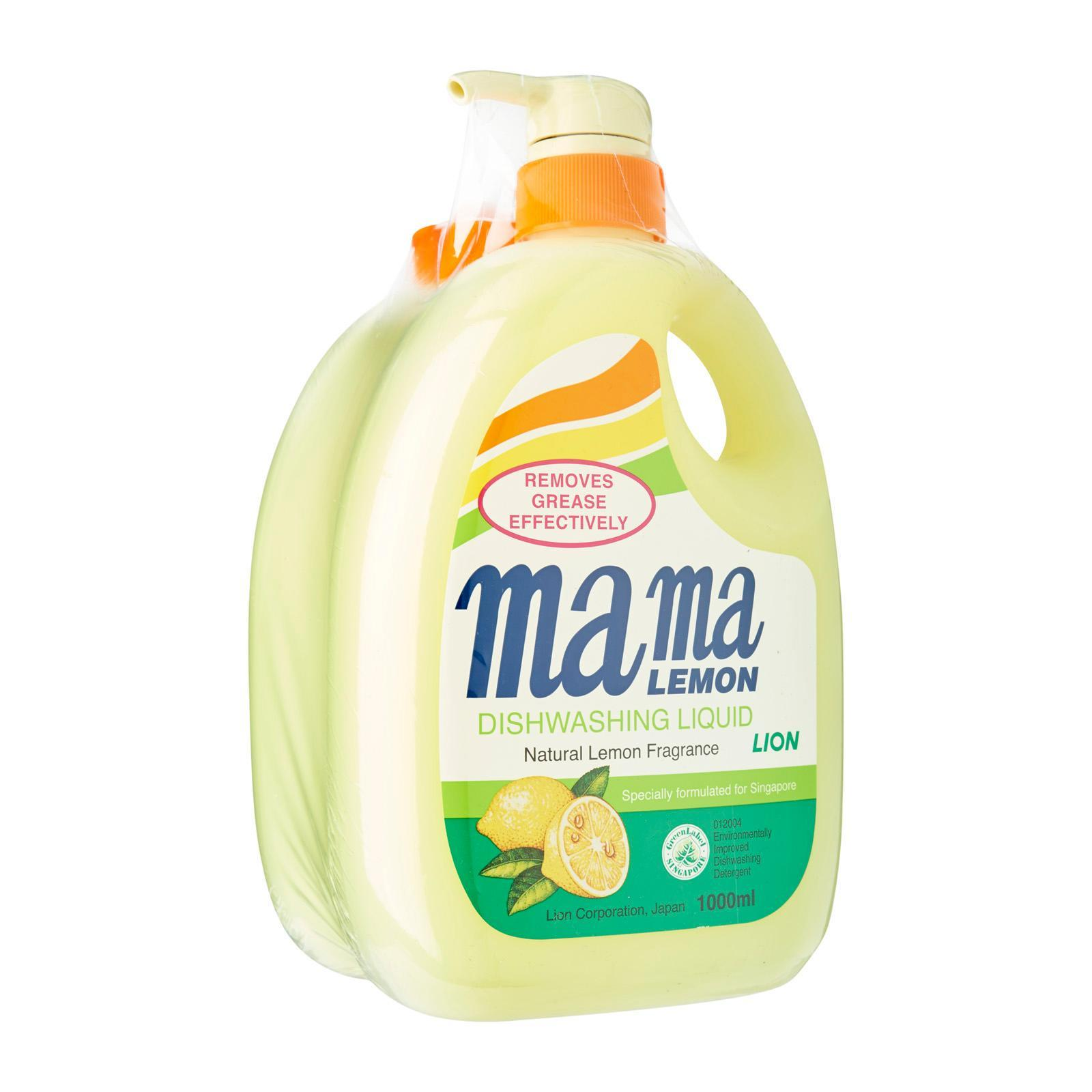 Mama Lemon Natural Lemon Fragrance Dishwashing Liquid with Refill Pack