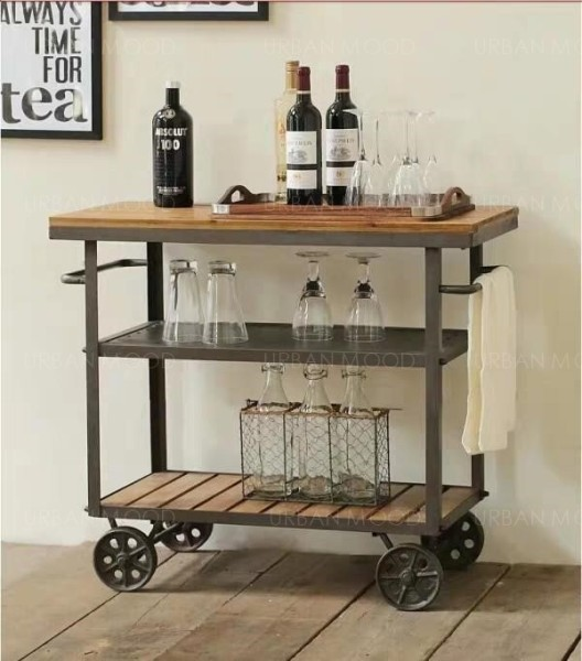 [PRE-ORDER] MARLEY Modern Rustic Kitchen Bar Cart