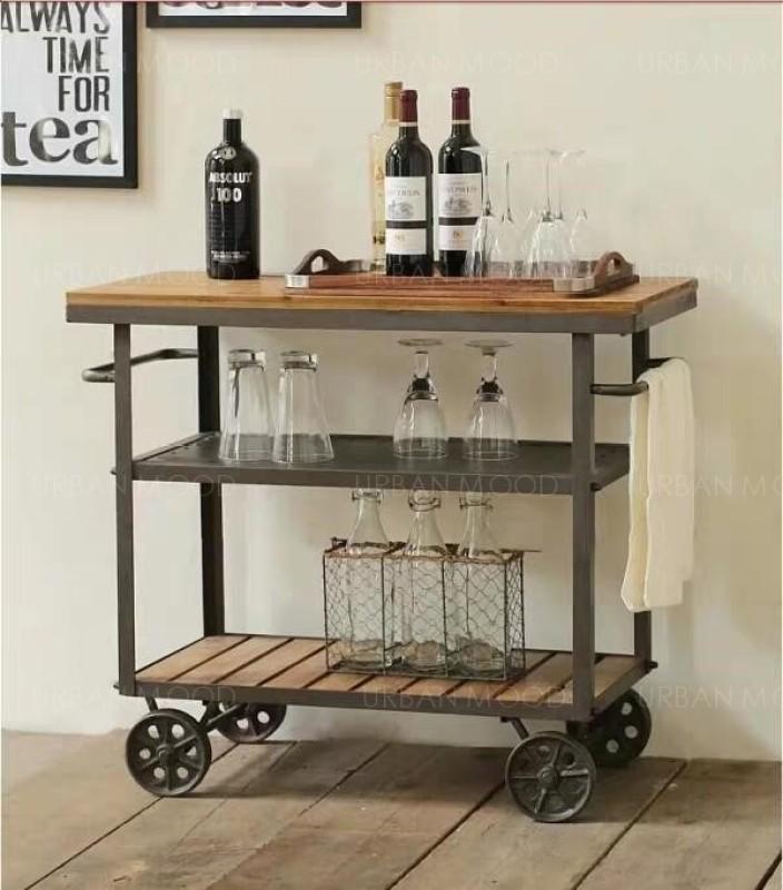 [PRE-ORDER] MARLEY Modern Rustic Kitchen Bar Cart