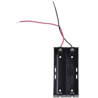 Plastic 2 x 3.7 V 18650 Battery Holder Case Black thumbnail