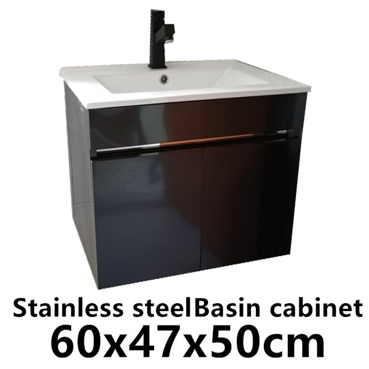 Stainless steel basin cabinet 60X40X13CM basin storage box paper