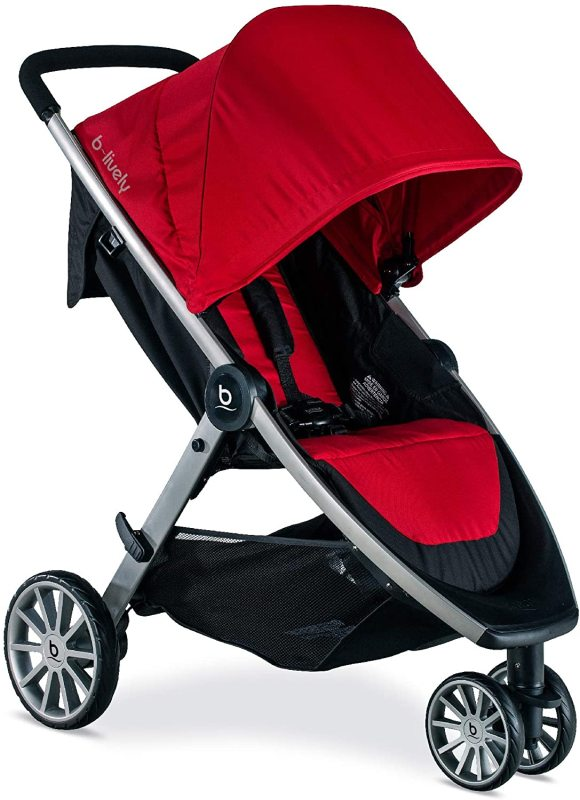 Britax B-Lively Infant Baby to Child Children Kids Lightweight Sports Running Jogging Exercise Stroller Jogger Black. Red or Grey Gray. Singapore