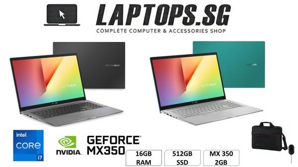 BRAND NEW ASUS S433EQ-EB116T  i7-1165G7 (2.8GHz)  16GB RAM  512GB SSD  14 FULL HD IPS DISPLAY  WINDOWS 10 MX 350 2GB GEFORCE GRAPHICS  BRAND NEW
