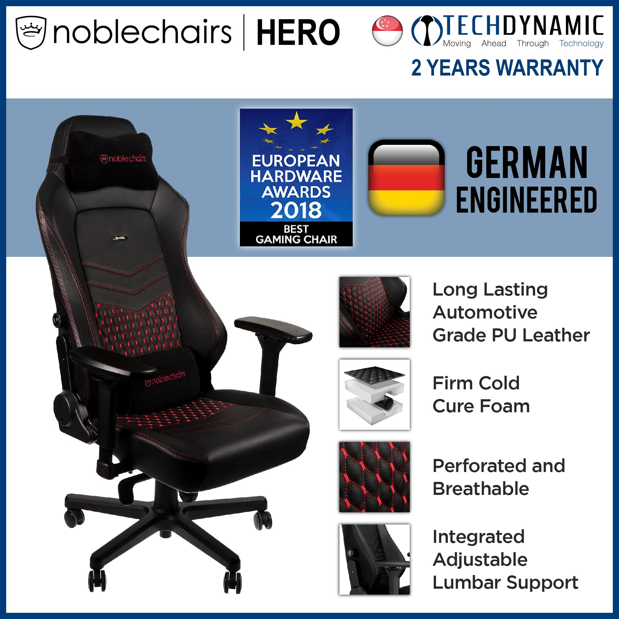 Noble Chairs Gaming Chair Real Leather HERO Series [Available in 2 colors]