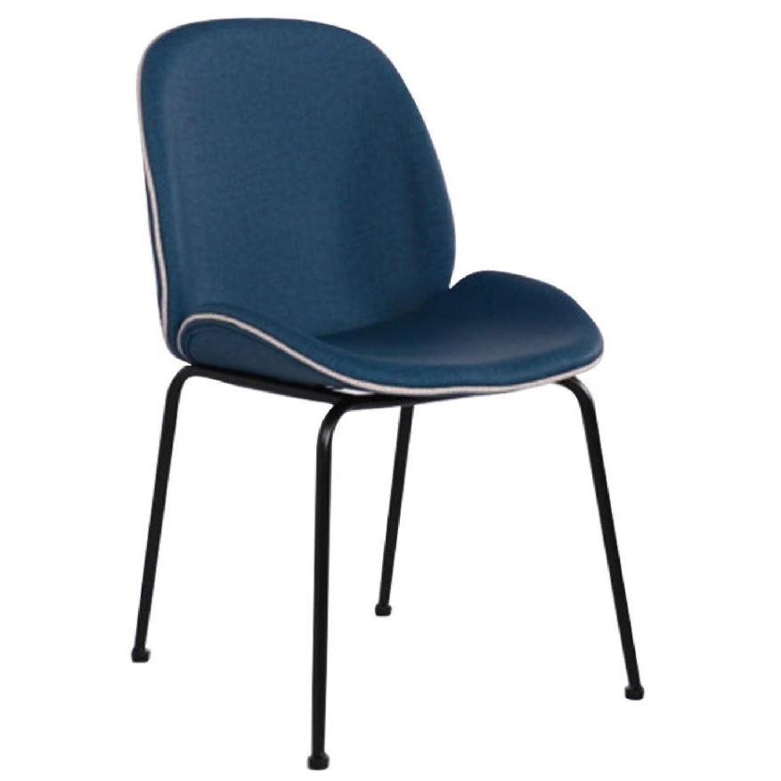JIJI (Beetle Designer Chair in PU Fabric) (Free Installation) / Designer Chair / Dining Chair / Beetle Chair / PP / Slim Frame / 6 Month Warranty / (SG)