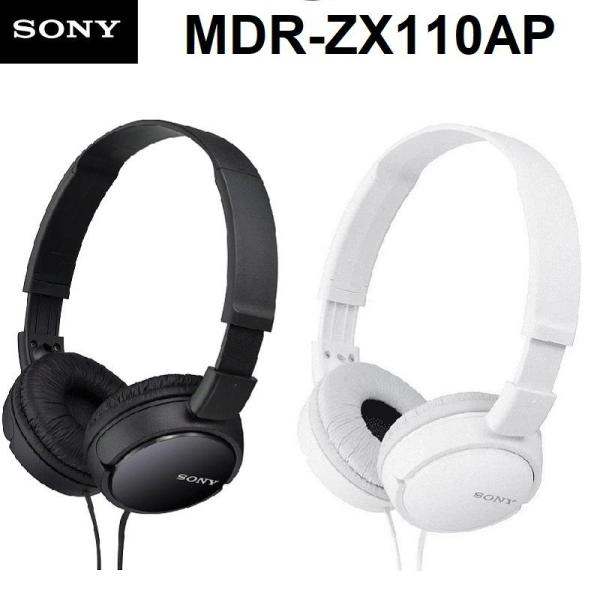 Sony MDR-ZX110AP Wired 3.5mm On-Ear Headphones Earphone with Mic Lightweight Swivel Foldable Headset Singapore