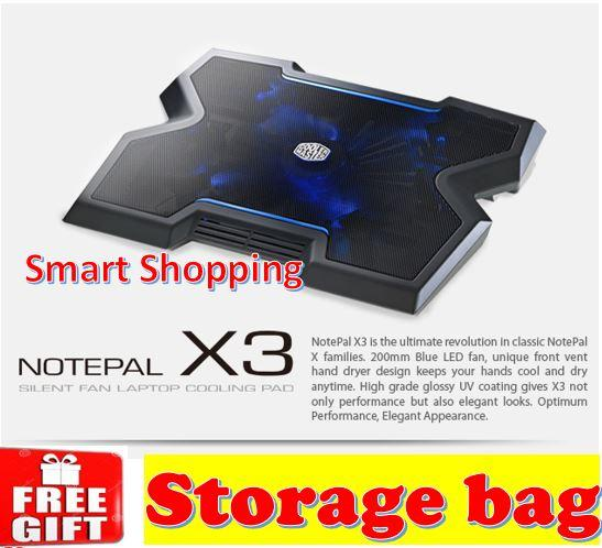 Coolermaster Notepal X3 Cooling Fan Laptop uo to 17 inch R9-NBC-NPX3-GP Notebook Laptop cooler Singapore stock local warranty Cooler Master