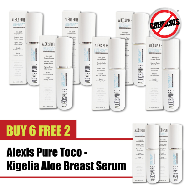 Buy Buy 6 Free 2 Alexis Pure Toco-Kigelia: Super Sexy Firming Crème Serum with Active Anti-Aging Ingredients - The Best Way To Firm, Tighten, Tone & Uplift Decolletage, Breasts, Bust, Neck, and Chin. Natural Enhancing Lift & Anti-Sagging Lotion -50ml Singapore