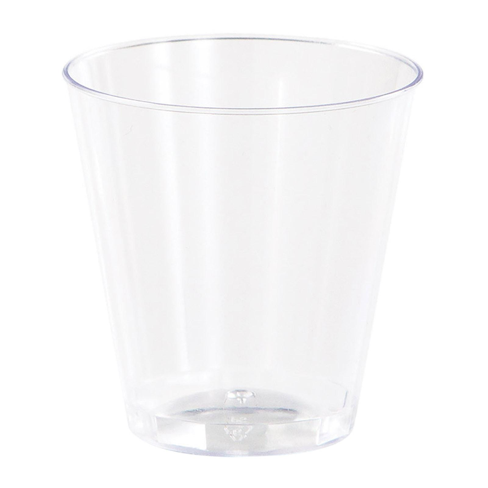 Creative Converting Clear 2 Oz Premium Plastic Shot Glasses 20Pcs-Pack