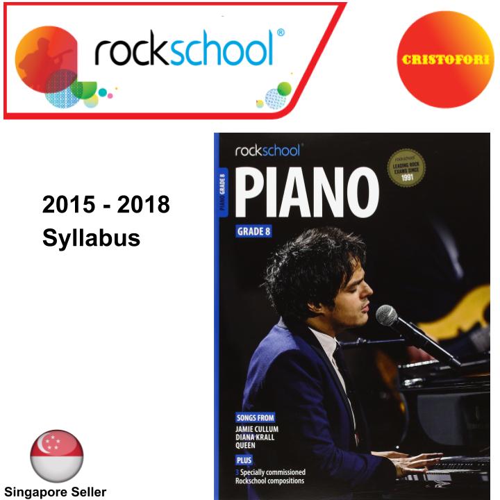 ROCKSCHOOL Piano - Grade 8 (2015 - 2018 Syllabus Book)