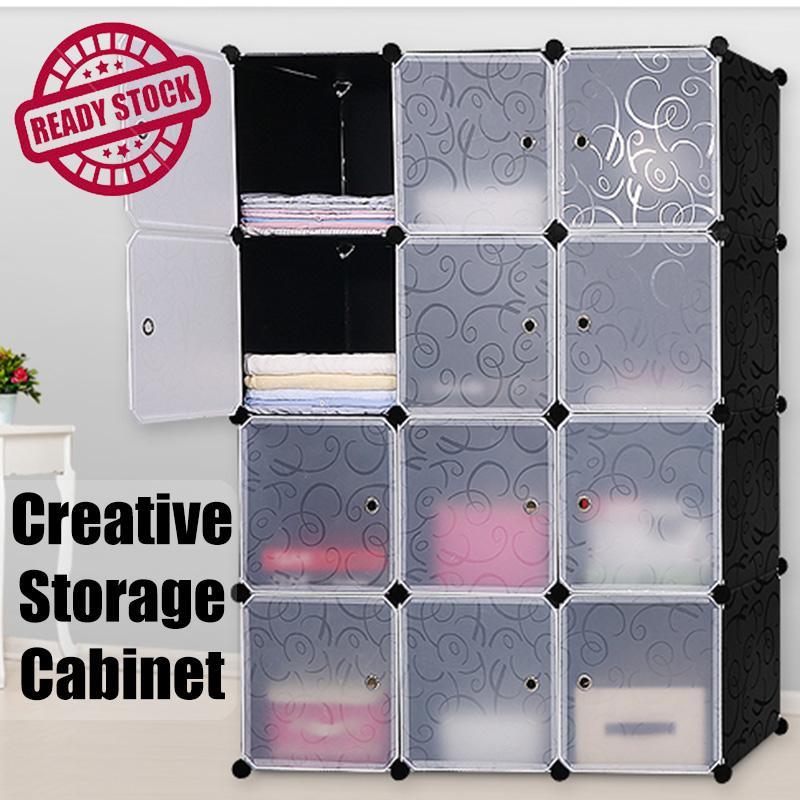 DIY Modular Storage Cabinet Wardobe Rack Shelves Shelf Basic Cubes Storage Box