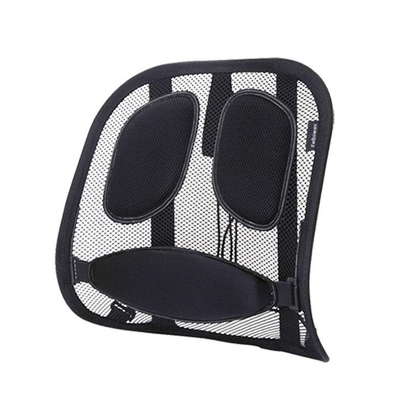 Fellowes Office Seat throw pillow, Chair Lumbar Support Pillow Waist  Support Schick Steel Wire Structure Durable Breathable