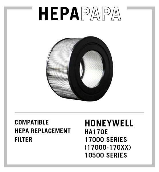 Honeywell Compatible HEPA Filter Model 20500. Suitable for Honeywell  HA170E, 17000 Series (17000-170XX) and 10500 Series [HEPAPAPA] [Free Cleaning & Sanitisation Kit] Singapore