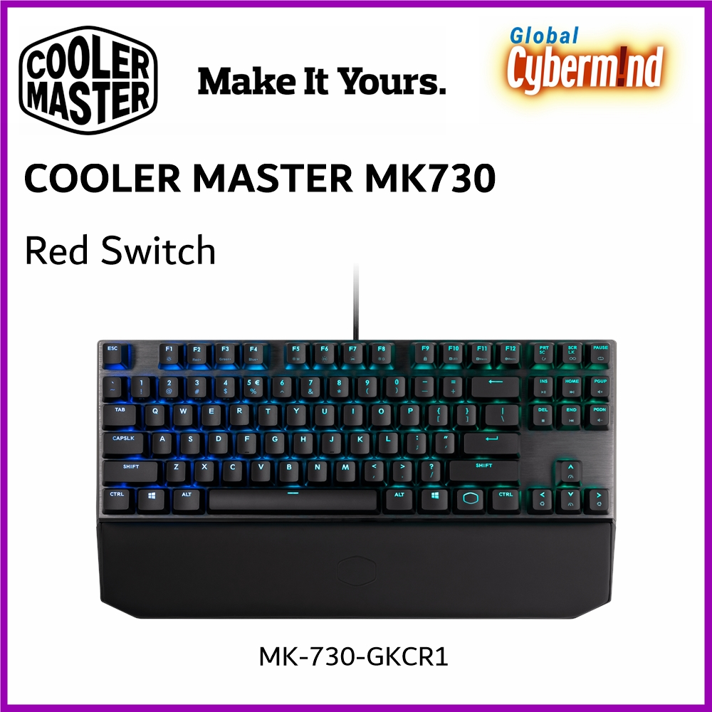 Cooler Master MK730 Cherry MX RGB Mechanical Gaming Keyboard [Red Switch] ( Brought to you by Cybermind ) Singapore