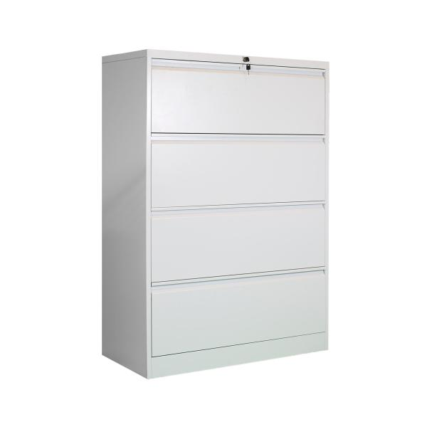 4 DRAWER LATERAL FILING CABINET  ( H1320 x W900 x D450mm )