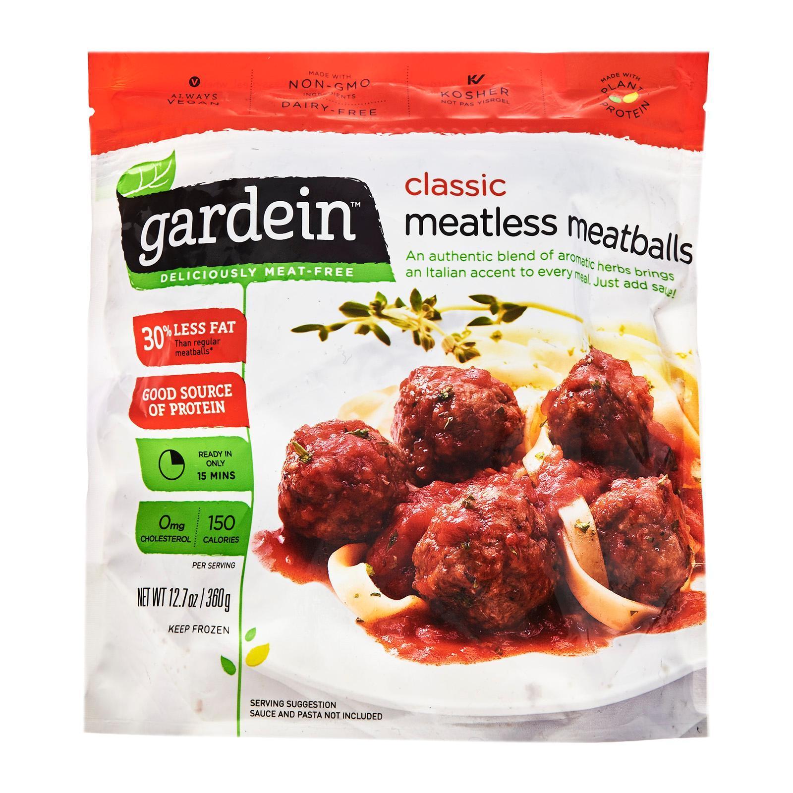 Gardein Vegetarian Meatless Meatballs - Frozen By Redmart.