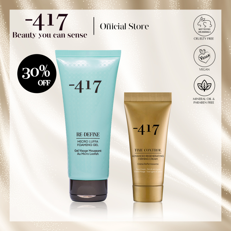 Buy Minus 417 Cleansing + Anti-Ageing Set - Micro Luffa Foaming Gel 200ml with Advanced Regenerating Firming Cream 20ml (Cleanser + Anti-Ageing Moisturizer) Singapore