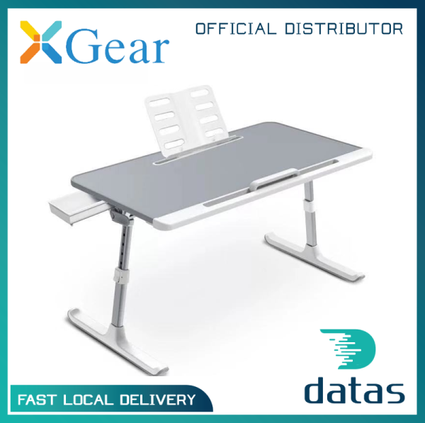 Xgear K7 Foldable Table / Bed Tray with Book Stand and Drawer